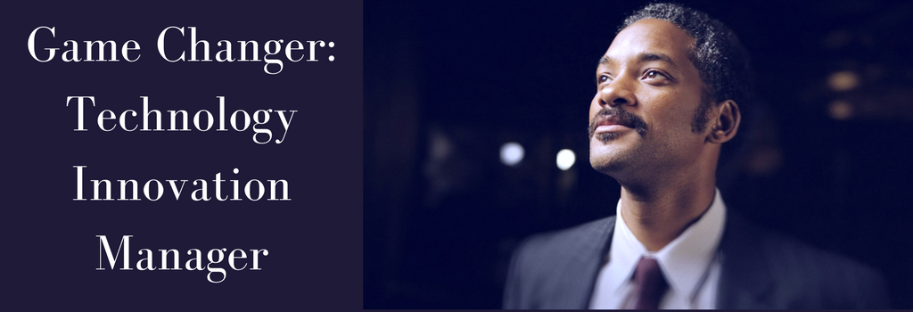 Will Smith as Chris Gardner featuring in banner on Technology Innovation Manager Job Description
