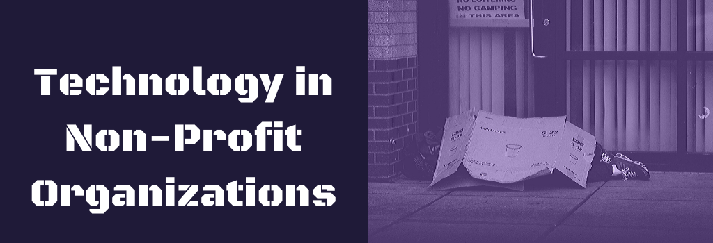 Banner that says technology In non-profit organizations