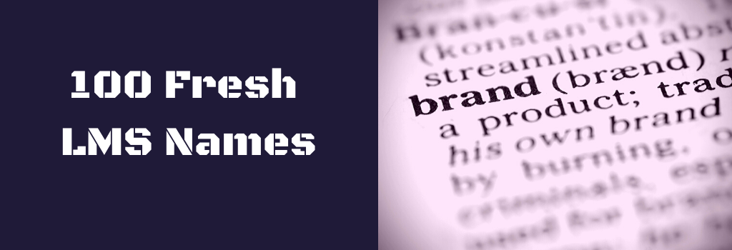 LMS names article banner with the dictionary word brand highlighted