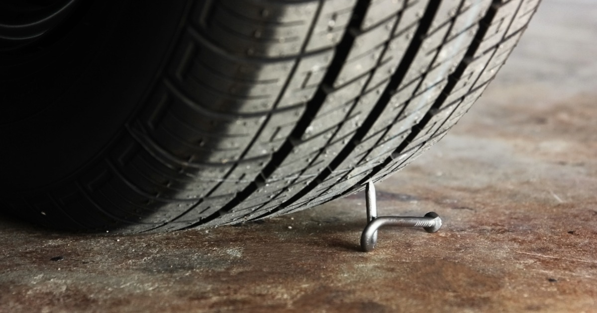 tire rolling over a nail - without IT principles business will be caught off guard to exceptions
